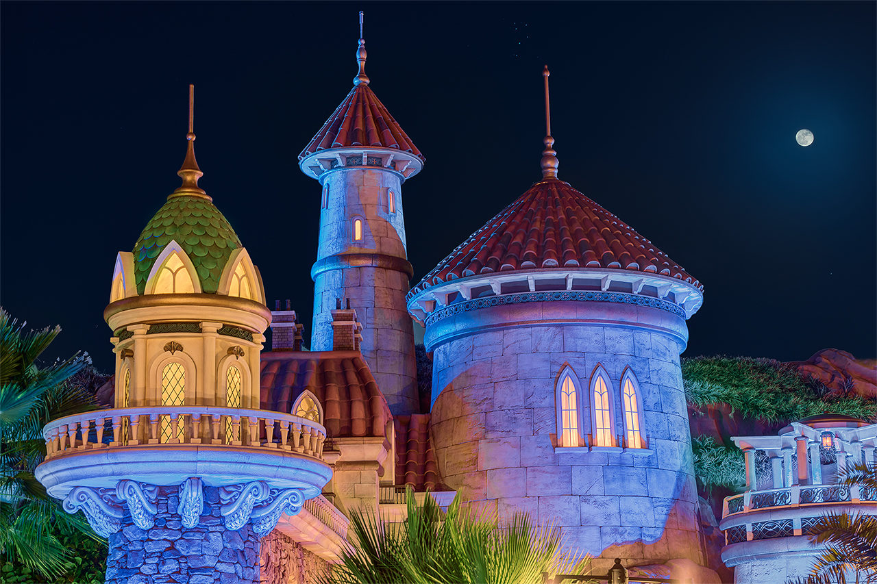 Prince Eric's Castle & the Moon