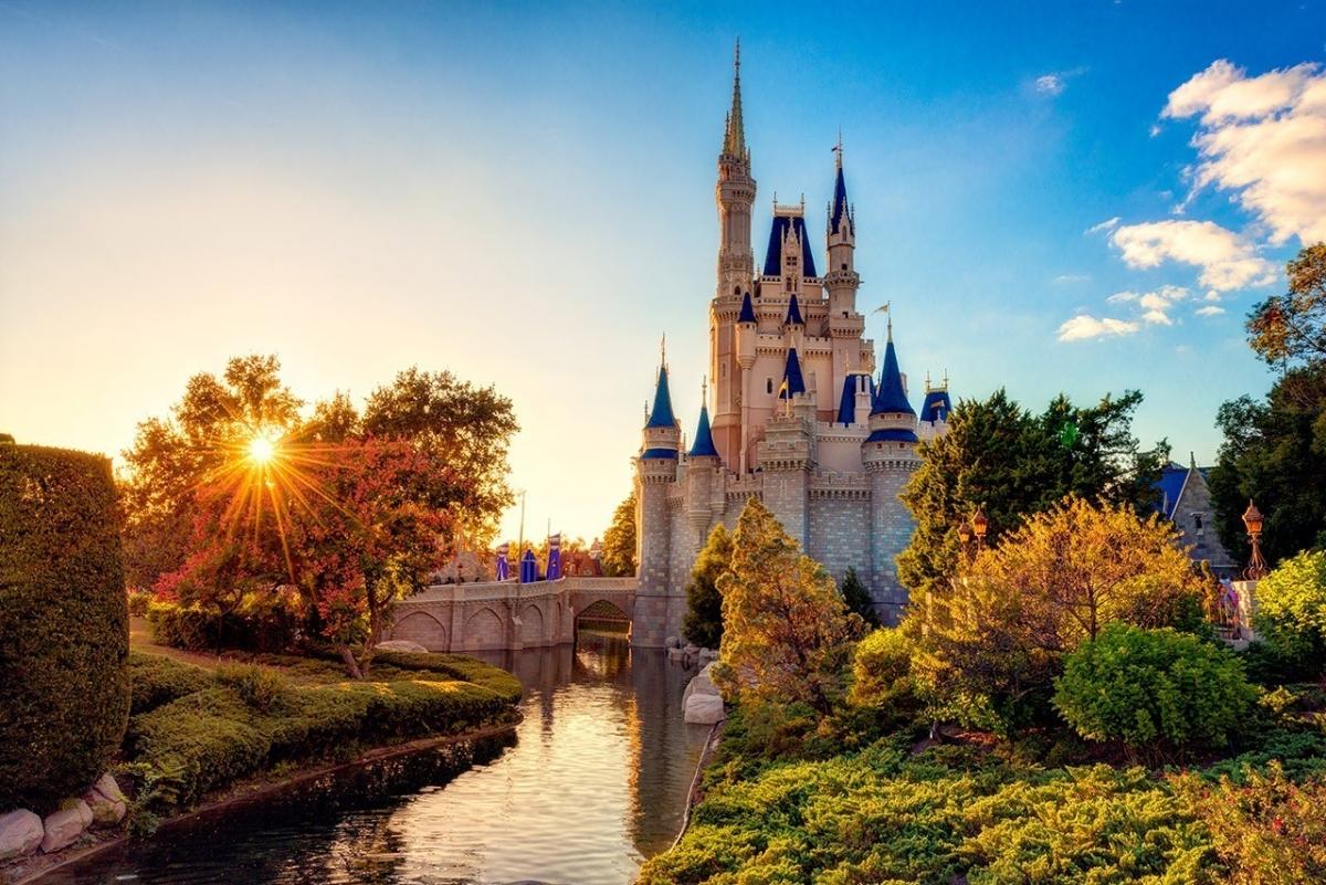 Cinderella Castle and the Sunburst