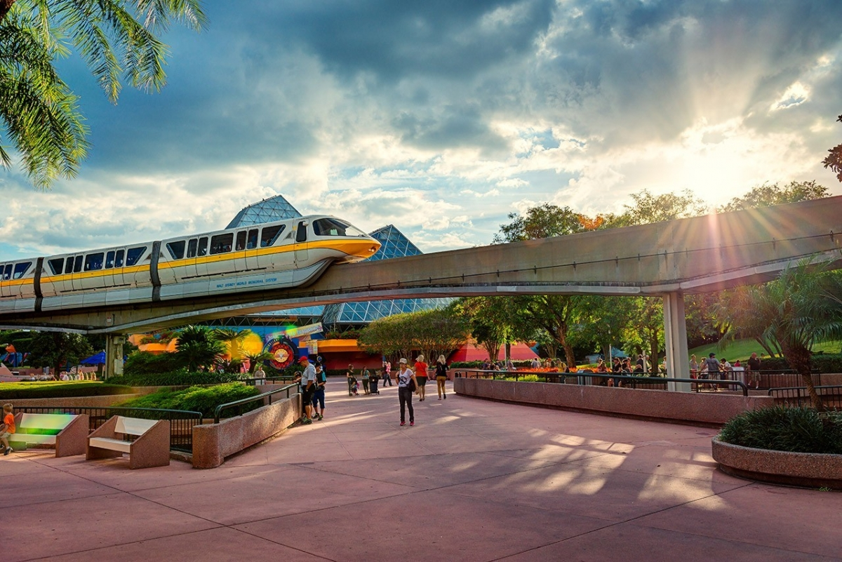 Monorail in the Sunlight