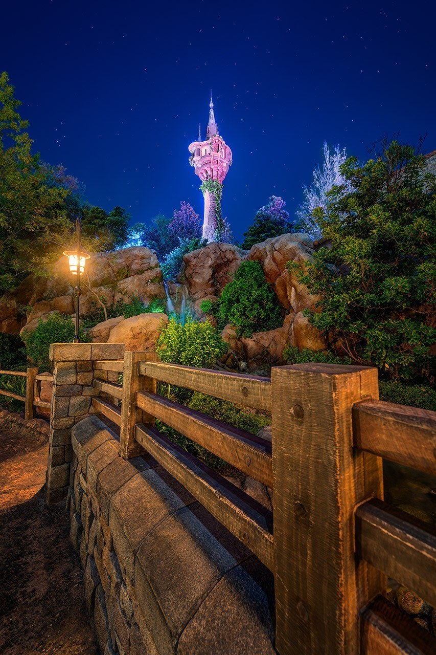 Rapunzel's Tower in the Night