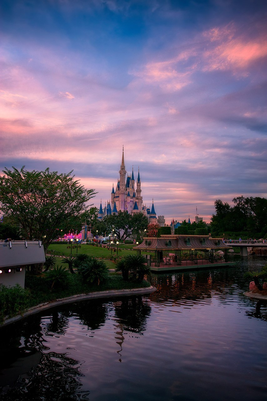 Cinderella Castle Colored Sunset