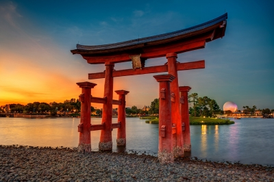 A Torii Gate Sunset