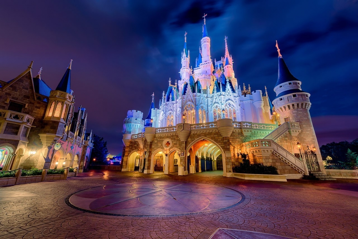 Cinderella Castle's Backside