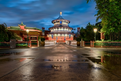 China Pavilion After the Rain