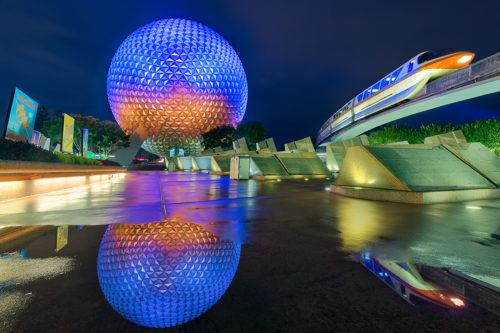 A Monorails Reflection of Spaceship Earth