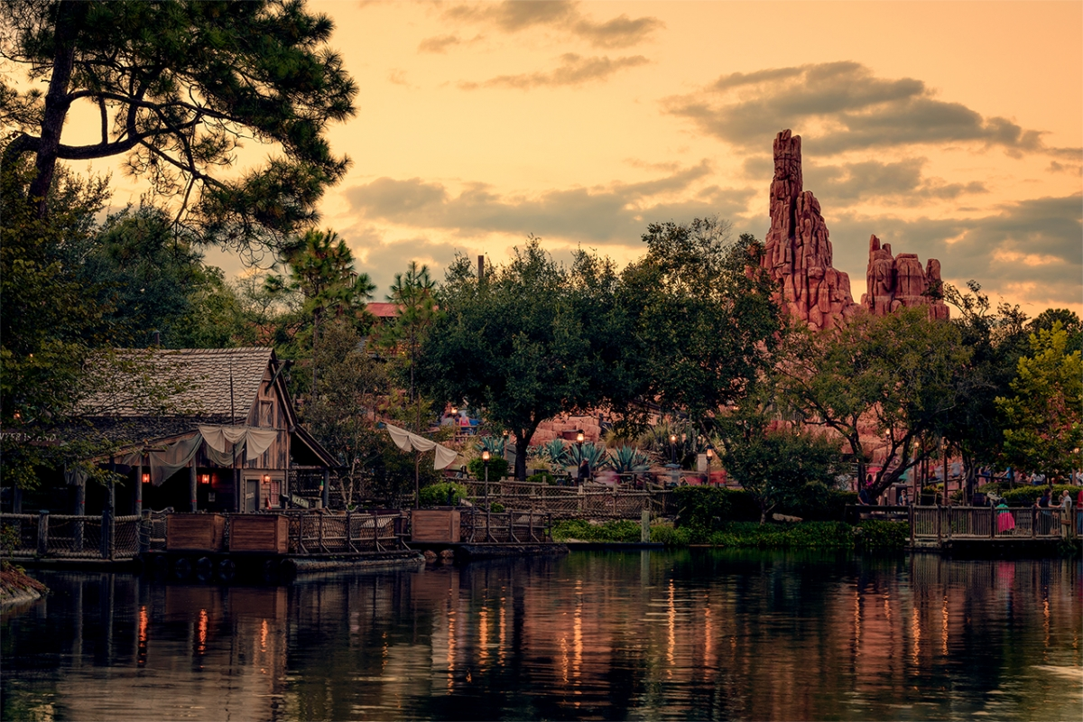 Rivers of America Thunder Mountain Sunset