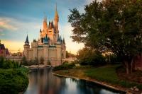 Cinderella Castle Reverse Sunset