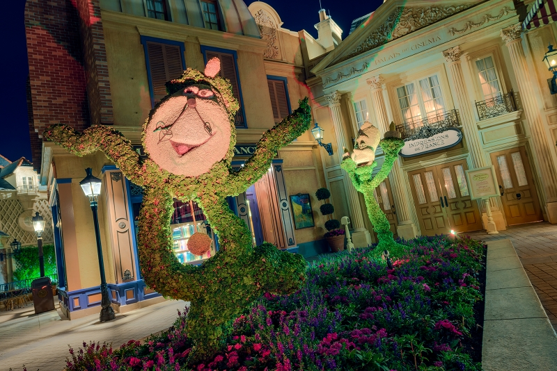 Cogsworth & Lumiere Topiaries France
