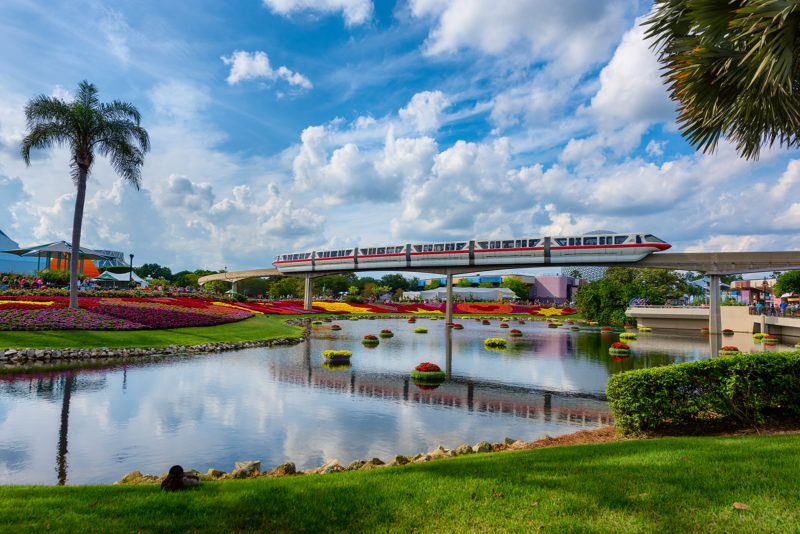 Flower & Garden Festival Red Monorail