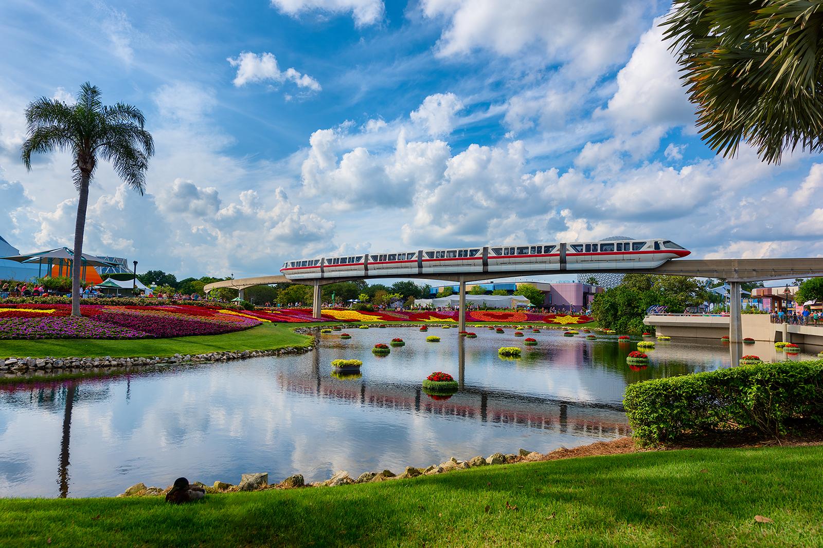 Flower & Garden Festival Red Monorail