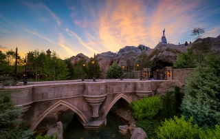 Dusk at Be Our Guest