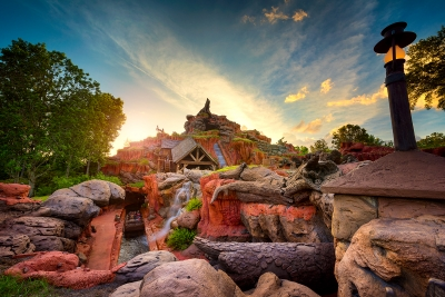 Splash Mountain & the Setting Sun