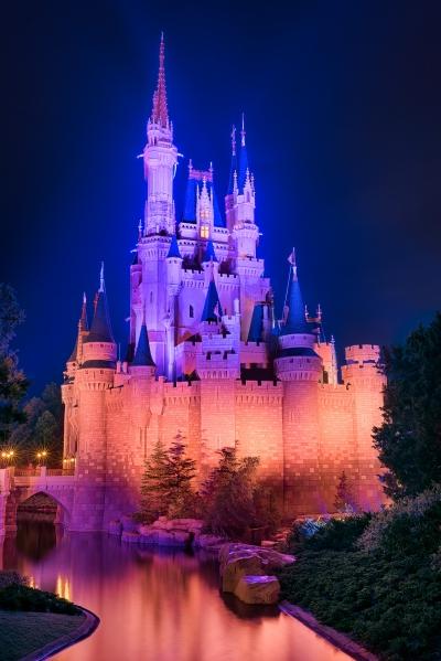 Cinderella Castle Blue & Orange