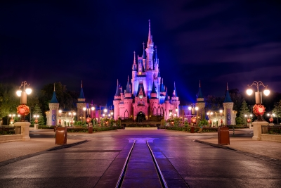 Cinderella Castle under the Purple Sky