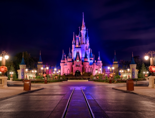 Cinderella Castle and the Purple Sky