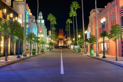 Quiet Night in Hollywood Studios